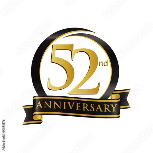 Fotografia  Anniversary Logo Black Gold 52
