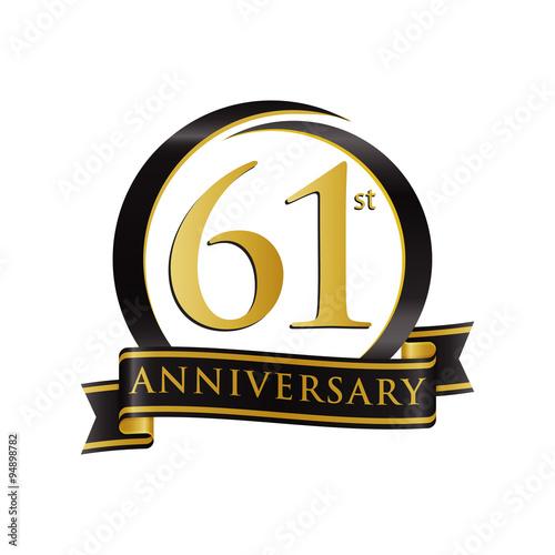 Poster  Anniversary Logo Black Gold 61
