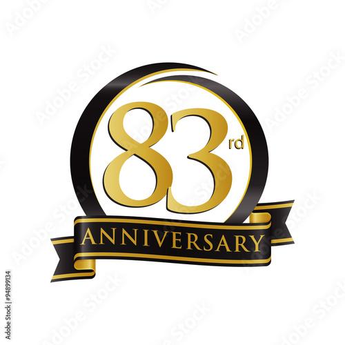 Fotografia  Anniversary Logo Black Gold 83