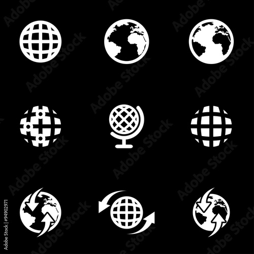 Vector white world map icon set world map icon object world map vector white world map icon set world map icon object world map icon picture gumiabroncs Choice Image