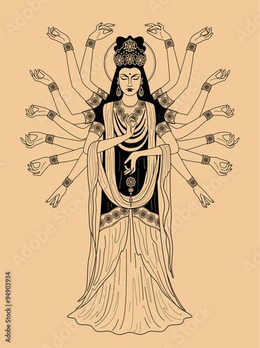 Fotografie, Obraz  East Goddess