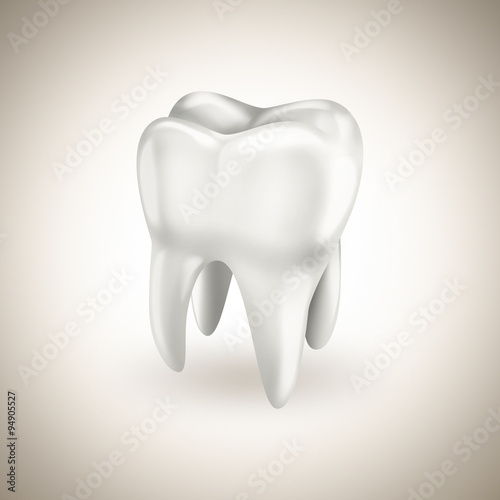 Photo healthy white tooth