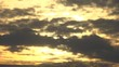 Sunset in clouds. Nightfall. Time lapse.