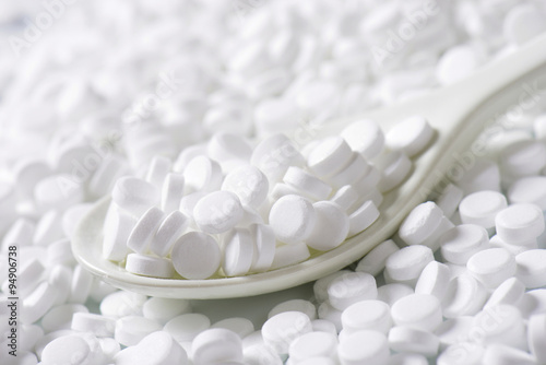 Photo Artificial sweetener tablets