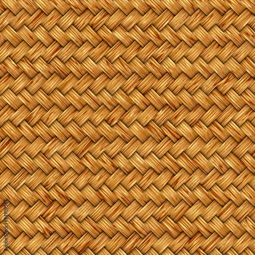 Fotografía  Wicker seamless texture pattern background