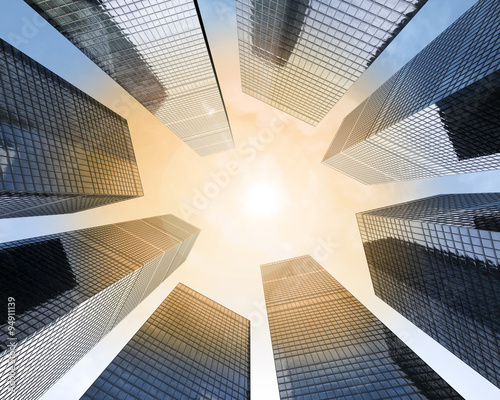 Background Of Glass Highrise Building Skyscraper Modern Futuristic Commercial City Business Concept Successful Industrial