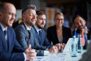 Naklejka Business group at conference