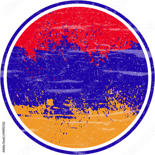 Fototapety, obrazy: Armenia Flag, Grunge and Splash Design