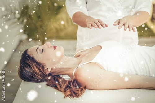 Composite image of snow Canvas Print