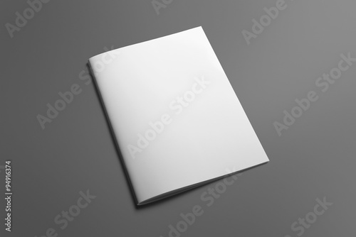 Fotografie, Obraz  Blank Brochure magazine isolated on grey to replace your design