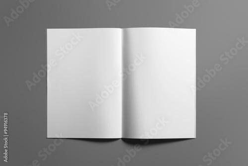 Valokuvatapetti Blank Brochure magazine isolated on grey to replace your design