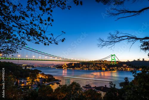 Fototapeta Bosphorus Bridge at night Istanbul / Turkey