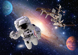 Astronaut spaceman suit people planet outer space shuttle station spaceship. Elements of this image furnished by NASA. - 94917107