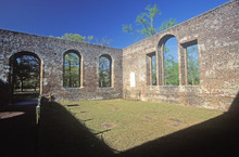 The St. Phillips Church Ruins Built By The British American Revolution In 1756 In Brunswick South Carolina