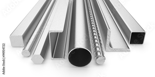 Fotografía  Stainless steel products isolated on white background 3d