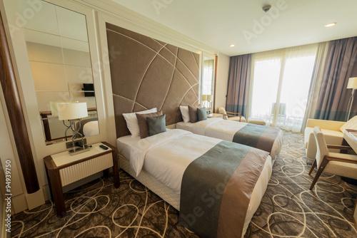 Hotel room with modern interior u kaufen sie dieses foto und