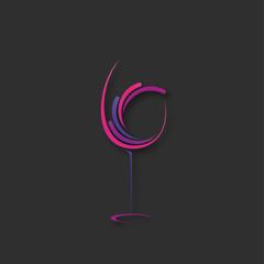 Panel Szklany Do gastronomii verre de vin