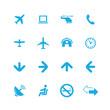 airport icons universal set
