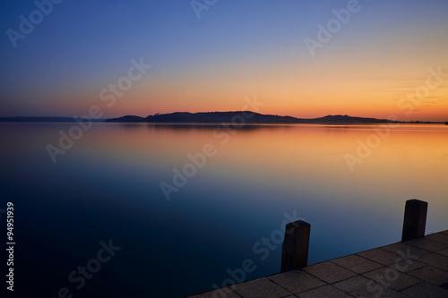 Valokuva  Lake balaton hungary sunset