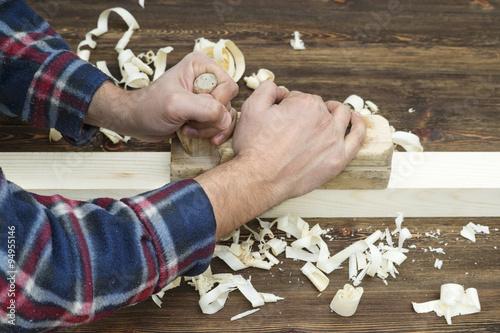 Foto op Canvas Gymnastiek Hands of a carpenter