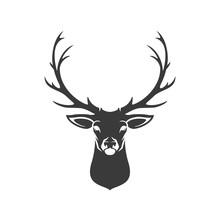 Deer Head Silhouette Isolated ...