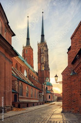 obraz lub plakat Wroclaw Tumski Island Church