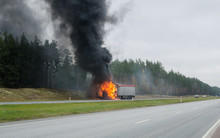 The Burning Truck On The Road