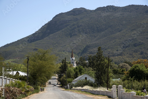 Deurstickers Zuid Afrika Riebeek Kasteel one of the oldest towns in South Africa