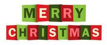 MERRY CHRISTMAS Vector Letters