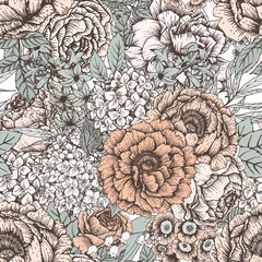 FototapetaHand drawn floral pattern