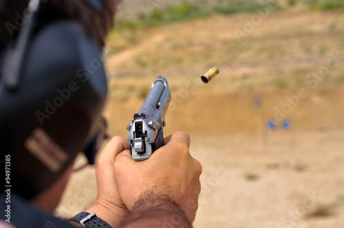 A day at the shooting range Canvas Print