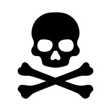 Crossbones And Skull Death Flat Vector Icon For Apps And Games