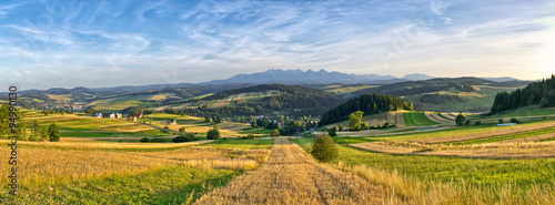 Tuinposter Honing Panorama of Tatra mountains, Poland