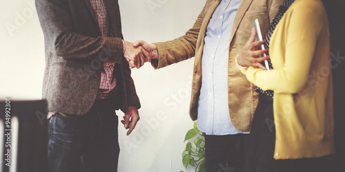 Pinturas sobre lienzo  Business Team Partnership Greeting Handshake Concept