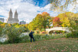 Relaxing in Central Park, foliage season