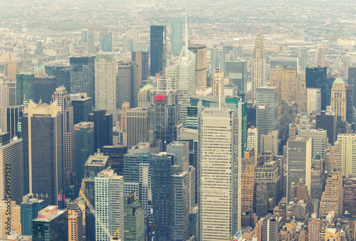 Fotografía  Midtown Manhattan as seen from helicopter