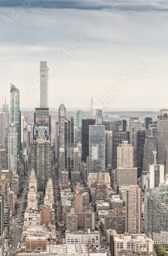 Foto op Aluminium New York Midtown Manhattan as seen from helicopter