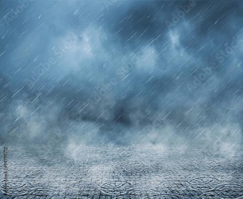 Regenschauer  Fototapete
