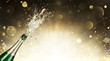 canvas print picture - Champagne Explosion - Celebration New Year