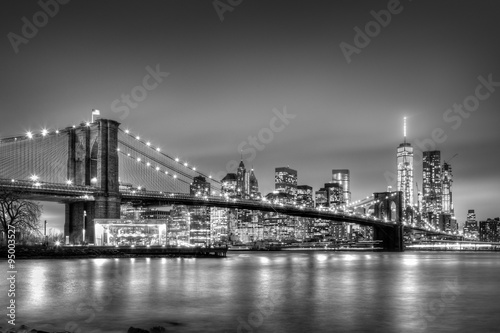 Printed kitchen splashbacks Brooklyn Bridge Brooklyn bridge at dusk, New York City.
