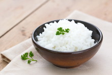 Boiled Rice In A Bowl