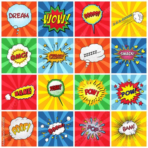 Plakat Zestaw komicznych efektów dźwiękowych