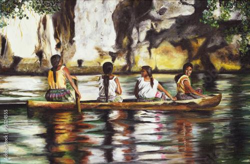 malowane-indianki-na-lodzi-na-amazonce