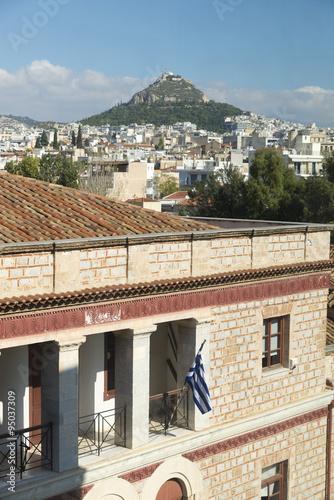 Staande foto Athene athens hill