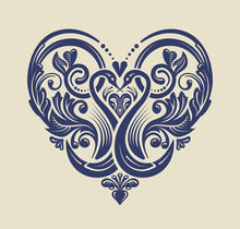 Floral Heart - Love Icon