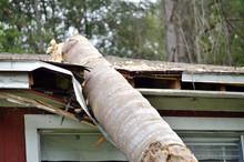 EF0 Tornado Damage On House Roof