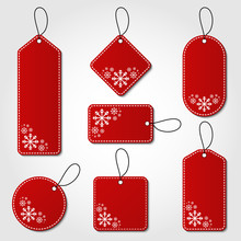 Red Christmas Tag Collection W...