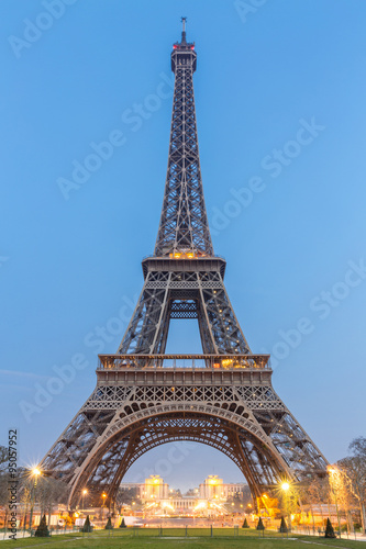 Deurstickers Eiffeltoren Eiffel Tower Sunrise