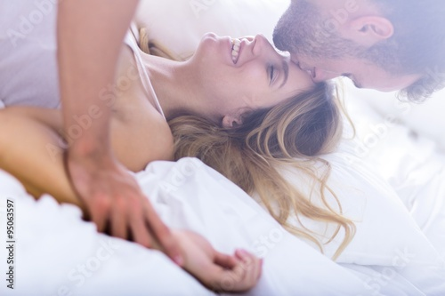 Photo  Young marriage during morning sex