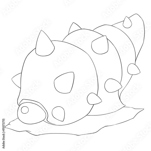 Fotografie, Obraz  Sea Snail Monster Line Art - Creature Design